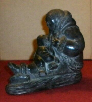 Vintage Native Canadian Figure Of Seated Woman  Excellent Condition