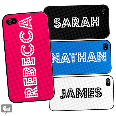 YOUR NAME Personalised DOTS Case for iPhone Custom Printed Birthday Gift Present