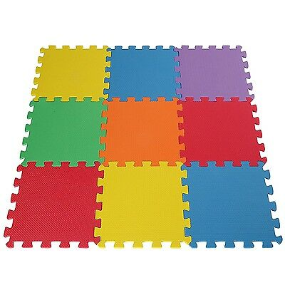 Baby Play Mat Foam Puzzle 9 Tiles Kids Toddler Activity Gym Safety Floor Playmat