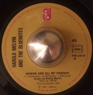 Harold Melvin And The Bluenotes - Where Are All My Friends. Great Modern Soul!