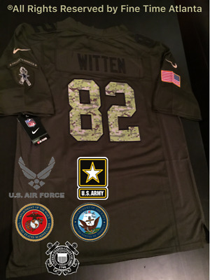 NEW Jason Witten Dallas Cowboys OD Green Salute to Service Miliary Camo  Jersey 0d88e1930