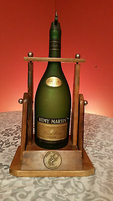 Remy Martin Fine Champagne Empty Bottle 1.89 L With Wood Support Bec-Serveur