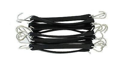 ABN EPDM Rubber Tie Down Strap 10 pack with Non-Crimped S-Hooks