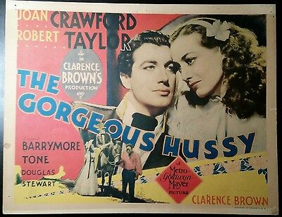 The Gorgeous Hussy  title lobby card TC 1936   Joan Crawford and Robert Taylor