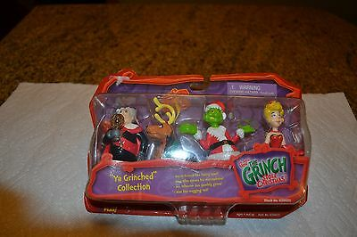 Vintage The Grinch Stole Christmas Action collectibles Set In Box 2000