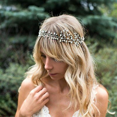 Venusvi Wedding Headbands for Bride - Bridal Headpiece with Bead - Hair