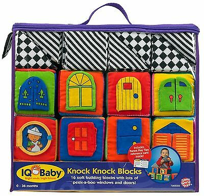 Small World Toys IQ Baby - Knock-Knock Blocks **BRAND NEW Colorful Interactive