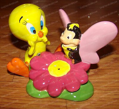 TWEETY & Butterfly Salt / Pepper Shakers (Looney Tunes by Westland, 13878)