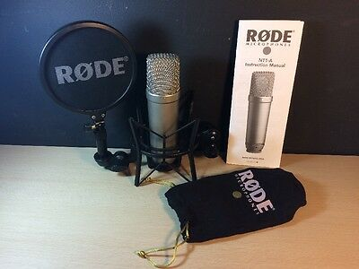 Rode NT1-A Studio Cardioid Condenser Pro Microphone w/ Pop Filter & Shock Mount