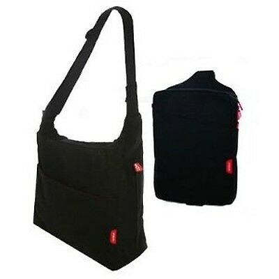 phil&teds Diddie Bag - Black (complete with change mat and mini diddie)