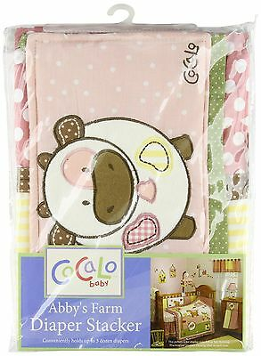 Cocalo Diaper Stacker Abby's Farm Pink/Yellow/Brown