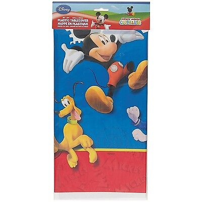 """Mickey Mouse Plastic Tablecloth 84"""" x 54"""""""