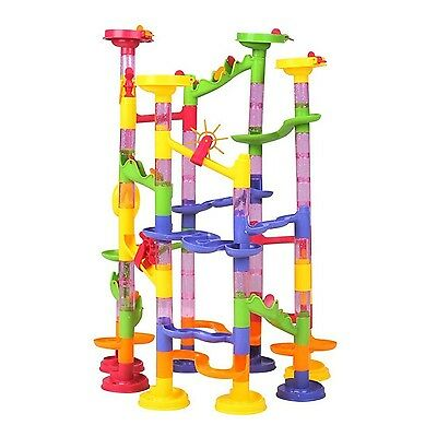 Happytime Marble Run Coaster 105 Piece Set with 75 Building Blocks Plus 30 Ra...