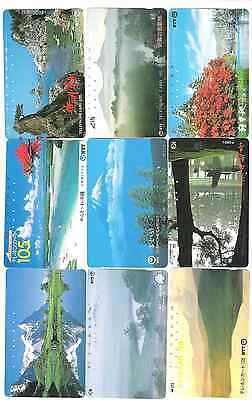 Japan 9 scenic phonecards used.