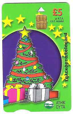 Christmas Phonecard used,  from Cyprus.