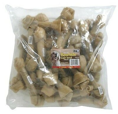 Dogit Rawhide Knotted Bone Large 20-22cm 8 -8.7-Inch 110gm 3.9-Ounce 25-Pack