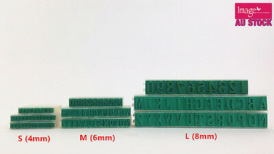 Alphabet Letters Numbers Rubber Stamp Free Combination DIY Plastic Size S M L