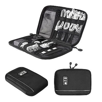 BAGSMART Travel Cable Organizer Electronic Accessories Case Black