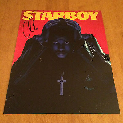 "THE WEEKND Starboy 8""x10"" Poster AUTOGRAPH SIGNED"