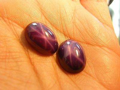 23 cts LAB CREATED VERY FINE STAR PURPLE  RUBY SIZE 12X16MM