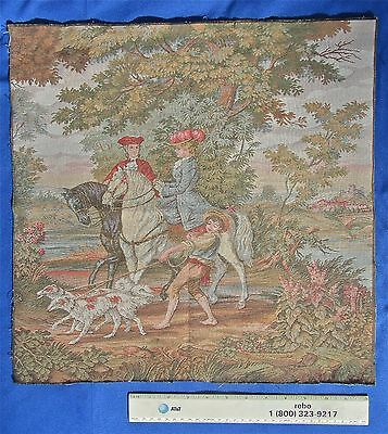 Antique Vintage Embroidered Tapestry Picture Embroidery Art Seat Cover