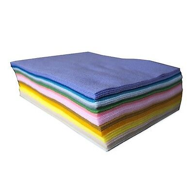 9X12IN Assorted Pack Acrylic Craft Felt 50 Pcs Pastel Colors