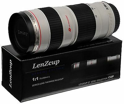 Fotodiox  Lenscup with Stainless Steel Insulated Tumbler (Modeling 1:1 Canon ...