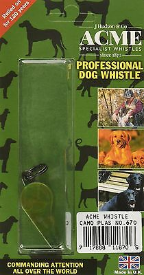ACME 670 THUNDERER Camouflage Dog Whistle and De-Luxe Safety Lanyard