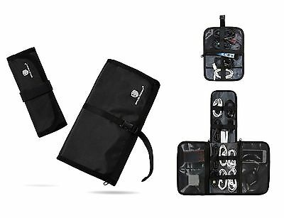 BAGSMART 2-in-1 Travel USB Cable Organizer Bag Electronic Accessories Case Bl...