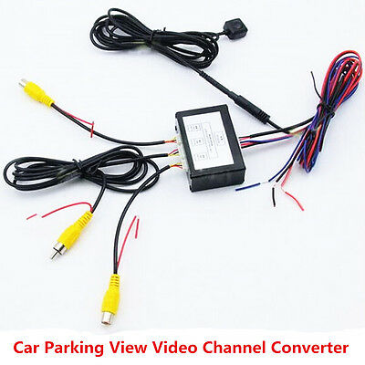 Car Parking Video Channel Converter Front Rear View Camera Video Control Box Kit