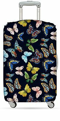 LOQI Luggage Cover Butterflies Print Multi-Colored Print Checked-Medium