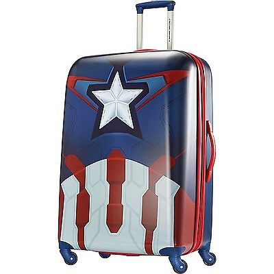 American Tourister Disney Marvel All Ages Spinner Captain America Checked  La...