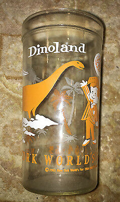 1964-65 New York World's Fair Sinclair Oil Dinoland Drinking Glass