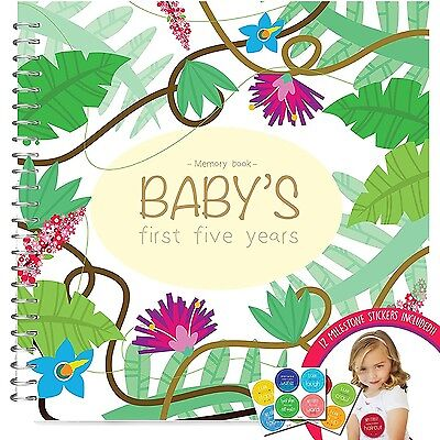 MEMORY BOOK + STICKERS - Unconditional Rosie Baby Girls FIRST FIVE YEARS Reco...