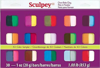 Polyform Sculpey III Polymer Clay Color Sampler Multicolor