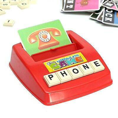 MECO Figure Spelling Game Platter Puzzle Spell Words Children's Early Learnin...