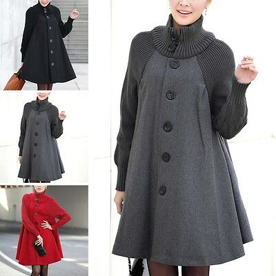 Hot Maternity Ladies Coat Travel Knitted Sleeve Jacket Pregnant Outerwear Cloak