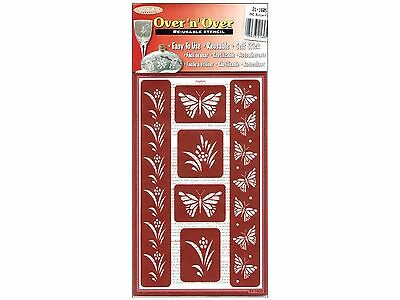 Armour Etch 21-1605 Over N Over Stencil Butterflies