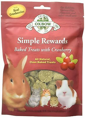 OXBOW Simple Rewards Baked Treats-Cranberry 2-Ounce Cranberry