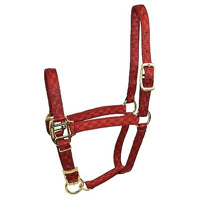 Hamilton Adjustable Quality 200-300-Pound Weanling Horse Halter 3/4-Inch Red ...