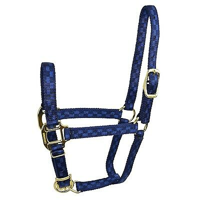 Hamilton Adjustable Quality 200-300-Pound Weanling Horse Halter 3/4-Inch Navy...
