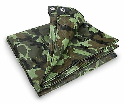 Stansport #T-810-C Reinforced Multi-Purpose Tarp Camouflage 8 X 10-Feet