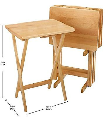 Winsome Wood 5-Piece TV Table Set Natural