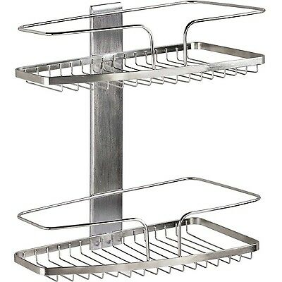 Better Living Products FineLine 2-Tier Basket Shower Organizer