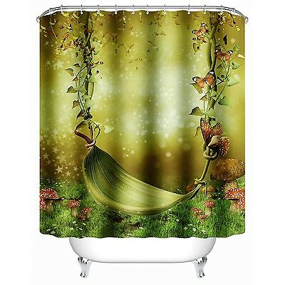 Shower Curtain with Hooks SENHAI Dream's Swing Fairy Mildew Resistant Fabric ...