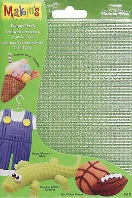 Makin's USA M380-2 Trim and Embellishments Clay Texture Sheets 7-Inch by 5-1/...