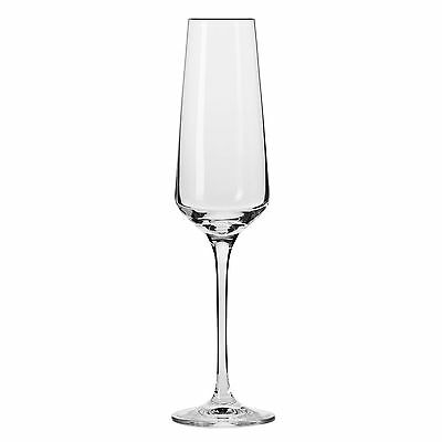 Krosno Household Essentials Vera Champagne Flutes (Set of 6) 6-Ounce Clear