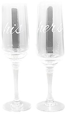TMD Holdings His and Hers Flute Clear Set of 2