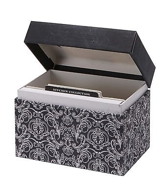 CRG Recipe File Box with Cards Savory Eats