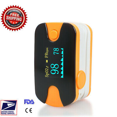 Finger Blood Oxygen Heart Beat Monitor Pulse Oximeter Fingertip OLED Spo2 PR CE